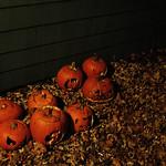 Pumpkin Graveyard, at night