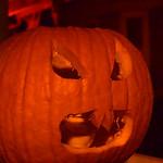 Buck-toothed vampire pumpkin